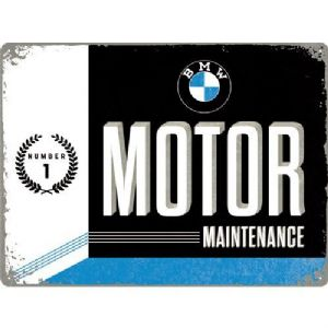 BMW Motor Maintenance large embossed metal sign 400mm x 300mm (na)